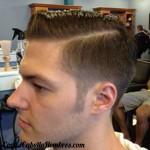 corte cabello hombre linea lado toupe