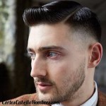 corte cabello hombre raya lado
