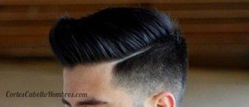 Corte de cabello con linea a un lado
