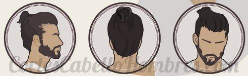 chongo hombre pelo corte cabello