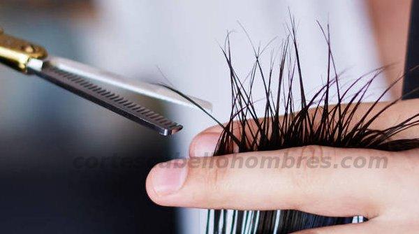 entresacar cabello hombres
